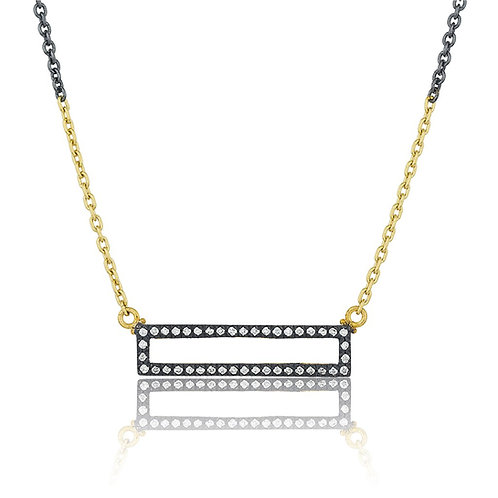 "LIKA BEHAR ""Quadrille"" Reversible Diamond Necklace QD-N-203-GXD"