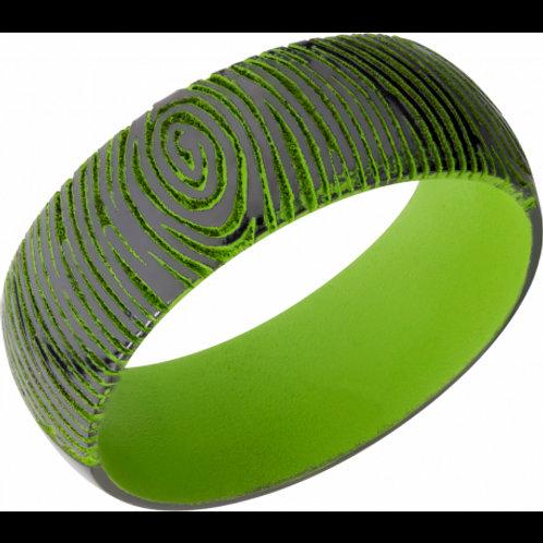 LASHBROOK Zirconium and Zombie Green Band with Customized Laser Fingerprint