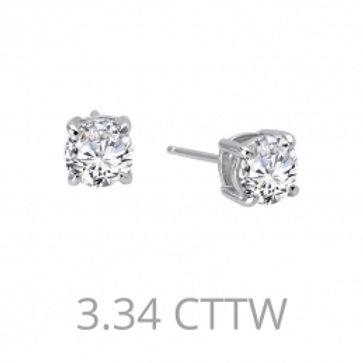 LAFONN Sterling Silver 3.34tw Simulated Diamond Stud Earrings