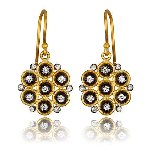 LIKA BEHAR Diamond Drop Earrings ANS-E-113-GOXD