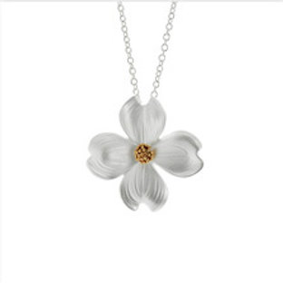 REBECCA HOOK Sterling Silver and Yellow Gold Vermeil Dogwood Necklace