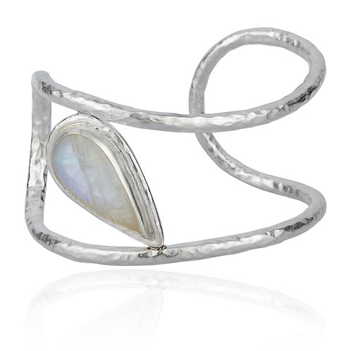 "LIKA BEHAR ""Wave"" Moonstone Cuff WAVE-B-344-SIL-MS"