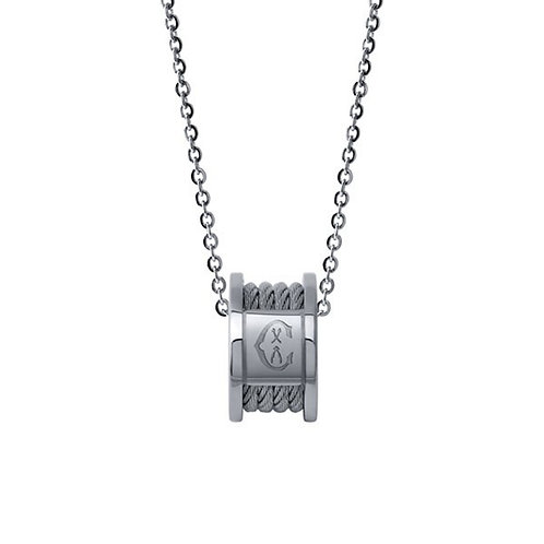 CHARROL Stainless Steel FOREVER Cable Link Necklace