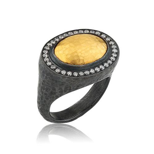 "LIKA BEHAR ""Pompei"" Sterling & 24K Ring POM-R-101-GOXD-26"