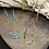 Thumbnail: NINA NGUYEN 22K Gold Vermeil WISTERIA-HARMONY Shaded Blue Topaz Bead Necklett