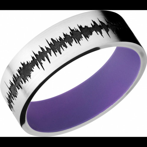 LASHBROOK Cobalt Chrome and Purple Cerakote Band w/Customized Carved Soudwave