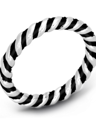 HERA Sterling Silver CLASSIC STAX Twist Ring