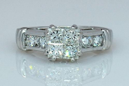 ESTATE Diamond & Platinum Engagement Ring