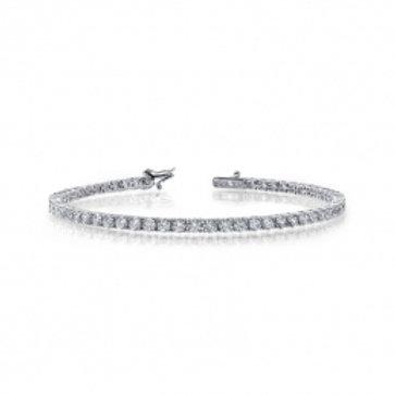 LAFONN Sterling Silver & Simulated Diamond Tennis Bracelet