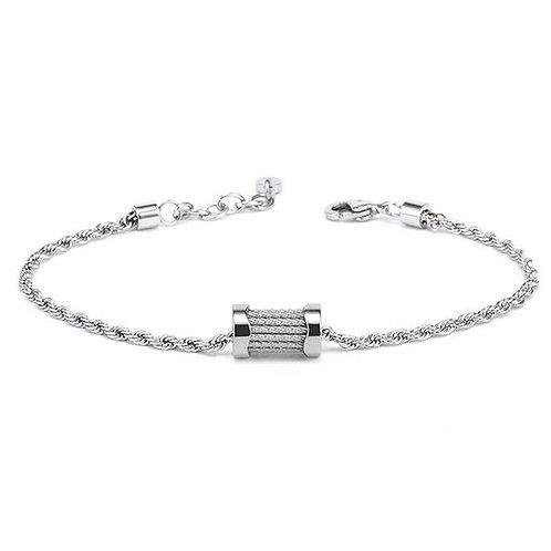 CHARRIOL Stainless Steel and White Topaz FOREVER WAVES Charm Bracelet