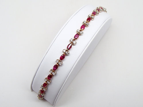 ESTATE Ruby & Diamond Tennis Bracelet