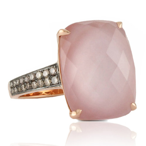 DOVES Bella Rosa Diamond Ring in Rosé 18K Gold