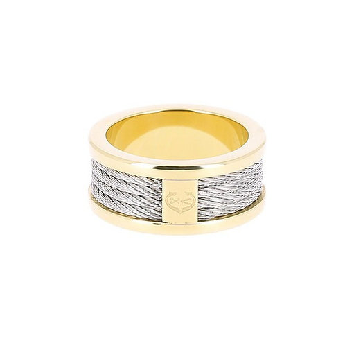 CHARRIOL Yellow Tone Stainless Steel FOREVER Cable Ring