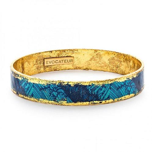 EVOCATEUR Blue Palm Bangle
