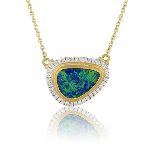 "LIKA BEHAR ""Ocean"" Opal & Diamond Necklace OC-N-911-GSDOP"