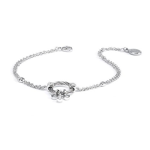 CHARRIOL Stainless Steel, Sterling Silver, & White Topaz SUGAR Bracelet