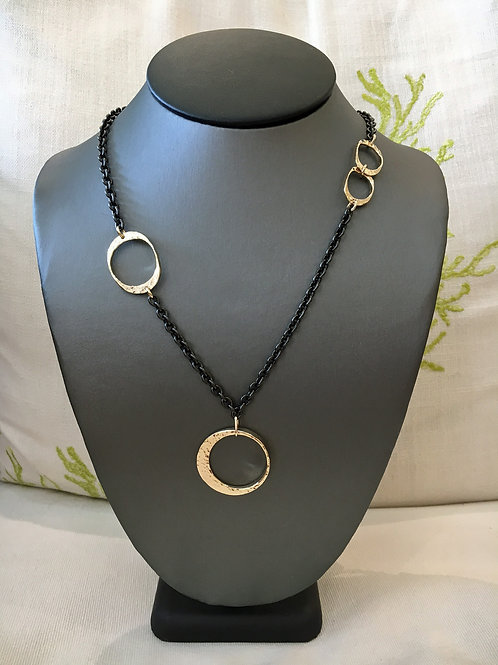 DAVID CRANDALL Yellow 14K and Stainless Steel Necklace