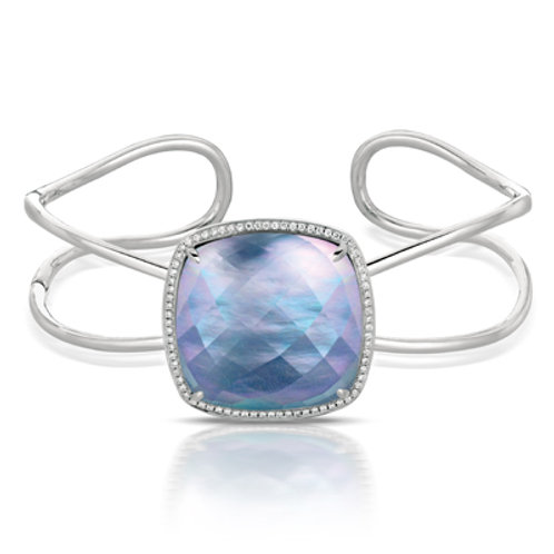 DOVES Ivory Sky Diamond Open Cuff