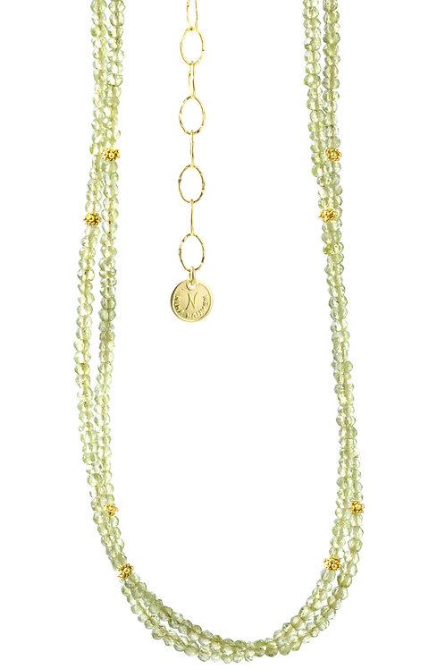 NINA NGUYEN 22K Gold Vermeil WISTERIA-HARMONY Peridot Bead Necklett