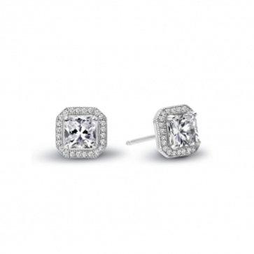 LAFONN Sterling Silver & 2.96tw Simulated Diamond Halo Stud Earrings