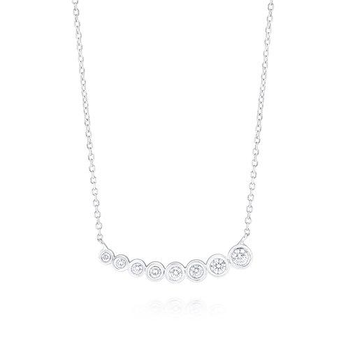 KC DESIGN Diamond Bubble Necklace in White 14K Gold