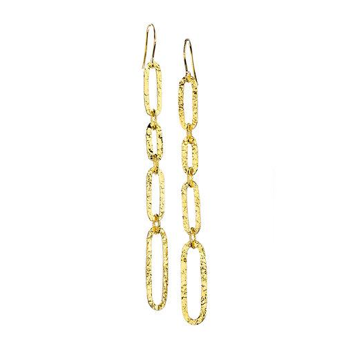 NINA NGUYEN 22K Gold Vermeil SHOULDER BUSTER Dangle Earrings