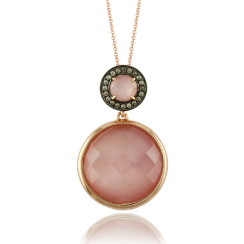 DOVES Bella Rosa Chocolate Diamond Pendant in Rosé 18K Gold