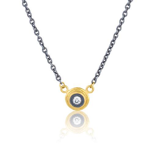 "LIKA BEHAR ""Krista"" Diamond Pendant on Chain KT-N-2009-GXD-14"