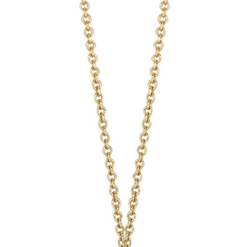 DOVES Round Cable Link Chain in 18K Gold