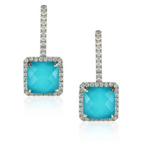 DOVES St. Barth's Blue & Diamond Drop Earrings