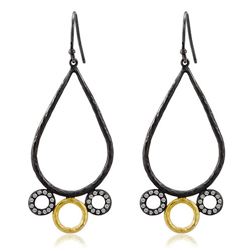 LIKA BEHAR Open Teardrop Earrings JEN-E-202-GOXD