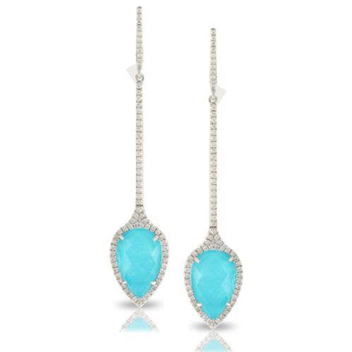 DOVES St. Barth's Blue & Diamond Dangle Earrings