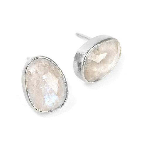 NINA NGUYEN Sterling Silver SERENA Moonstone Stud Earrings