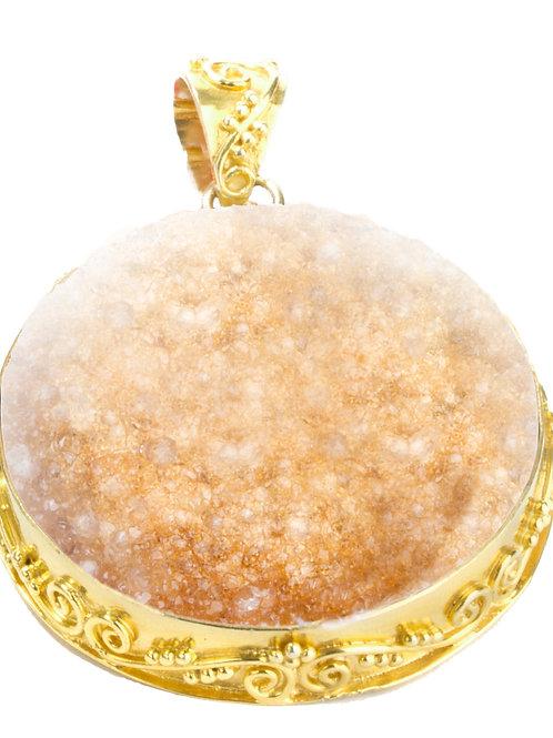NINA NGUYEN 22K Gold Vermeil WISTERIA-KYOTO BLUSH Druzy Quartz Enhancer