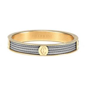 CHARRIOL Yellow Tone Stainless Steel FOREVER Bangle Bracelet