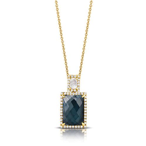 DOVES Domino Diamond Pendant Yellow 14K Gold