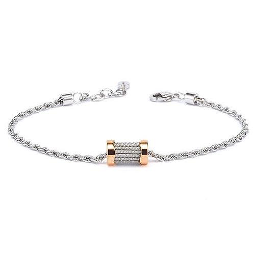CHARRIOL Monochrome & Rose Stainless, White Topaz FOREVER WAVES Charm Bracelet