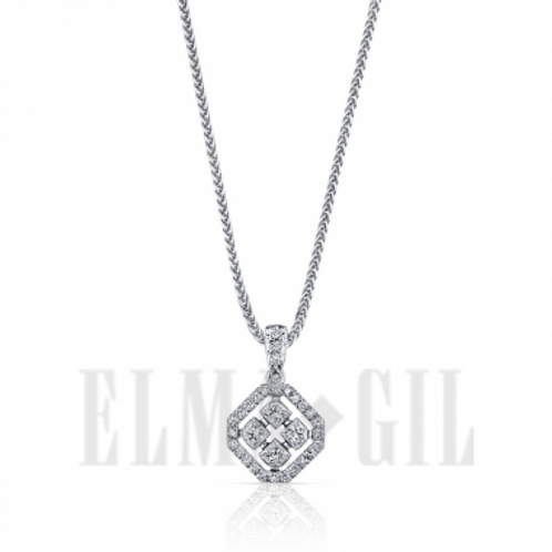 Diamond Pendant in White 18K Gold
