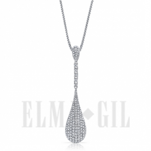 ELMA GIL Diamond Teardrop Pendant DP-216