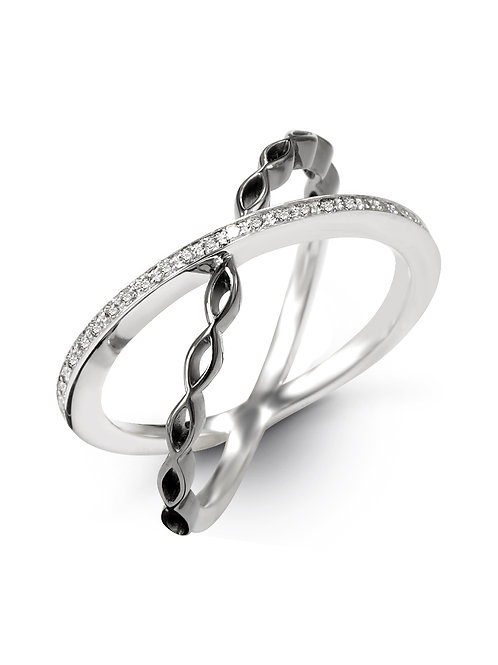 HERA Sterling Silver AMARA Diamond  Infinity Ring