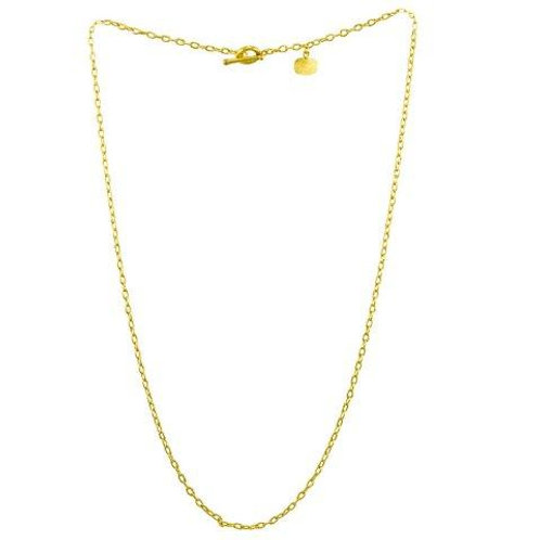 LIKA BEHAR Yellow 24K Gold Rolo Chain ARL-N-104-G2024
