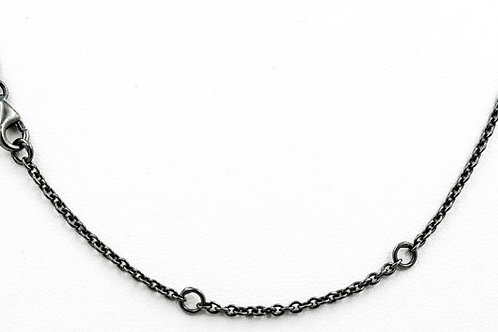 LIKA BEHAR Oxidized Sterling Silver Cable Link Chain CH-SILOX-20