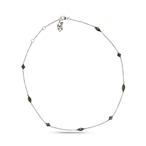 HERA Sterling Silver Chain with Midnight Accents