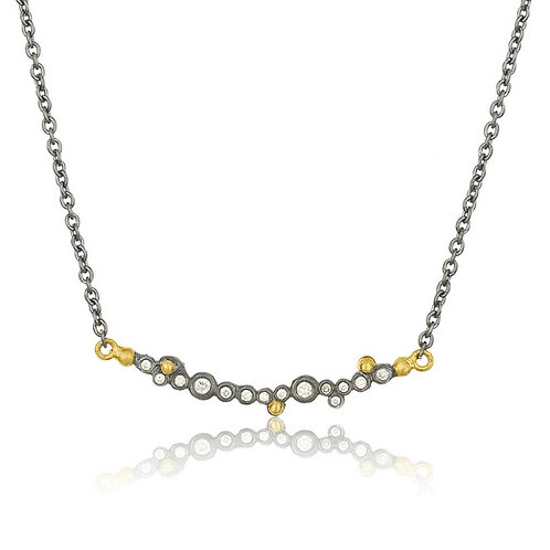 LIKA BEHAR Diamond Bar and Chain Necklace DY-N-101-GOXD-162