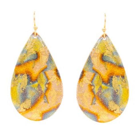 Oceans Medium Teardrop Earrings