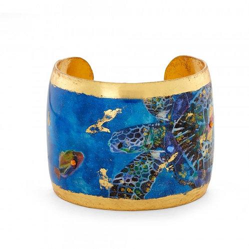 EVOCATEUR Blue Mosaic Sea Turtles Cuff