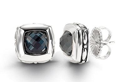 HERA Sterling Silver ZOE Hematite Mist Earrings