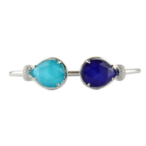 DOVES St. Barth's Blue and Royal Lapis Diamond Bangle Bracelet