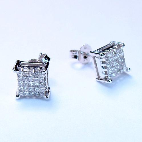ESTATE Diamond Invisi-Set Stud Earrings