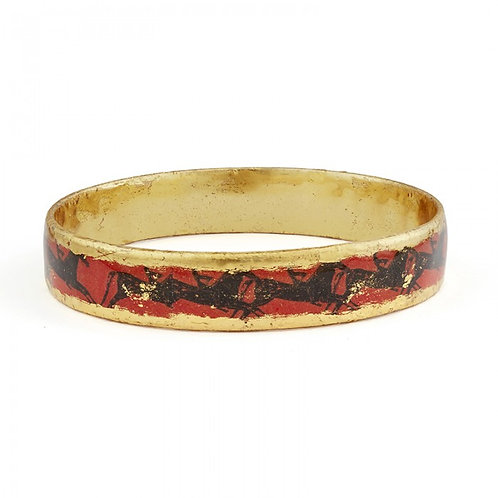 EVOCATEUR Greek Horse Orange Bangle